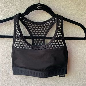 NWT Victoria's Secret sports bra sz XS black mesh